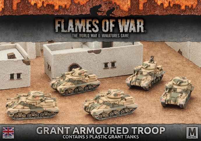 Flames of War Flames of War: British- Grant Armoured Troop (mid)