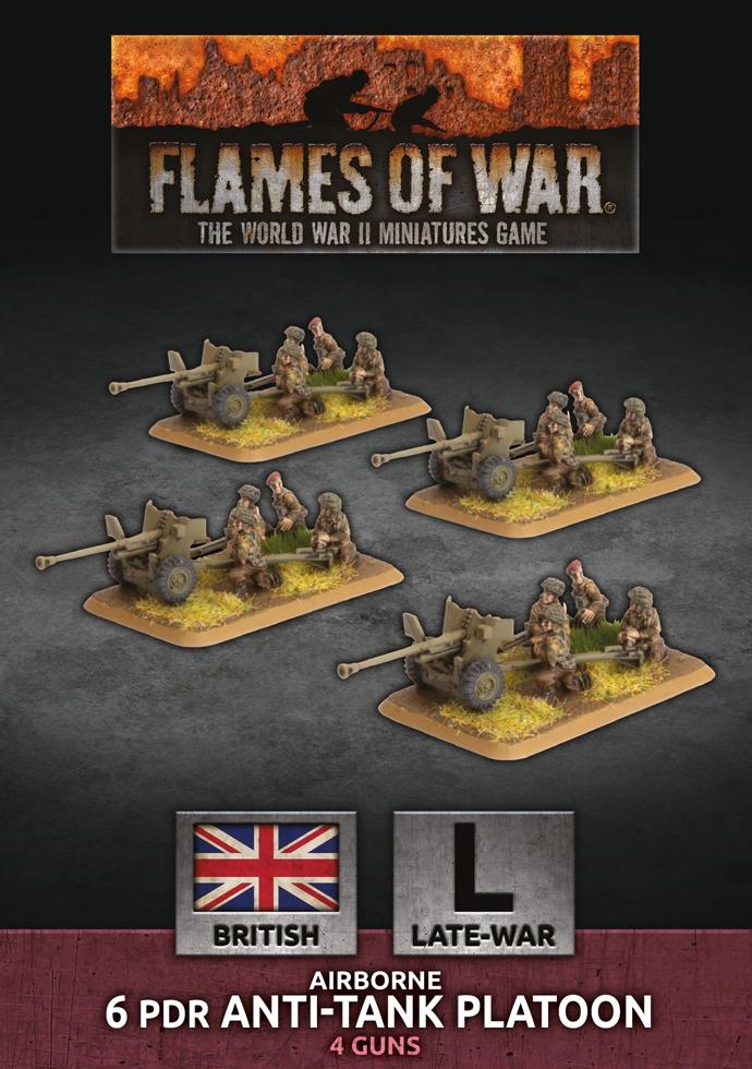 Flames of War Flames of War: British- 6 Pdr anti-tank Platoon (late)