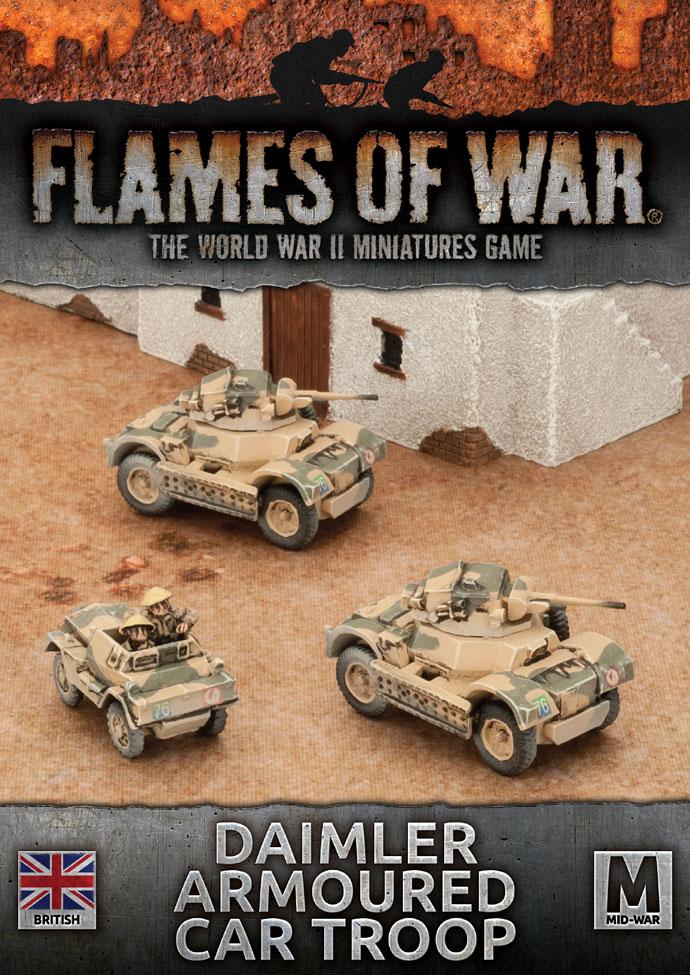 Flames of War Flames of War: British- Daimler Armoured Car Troop (mid)