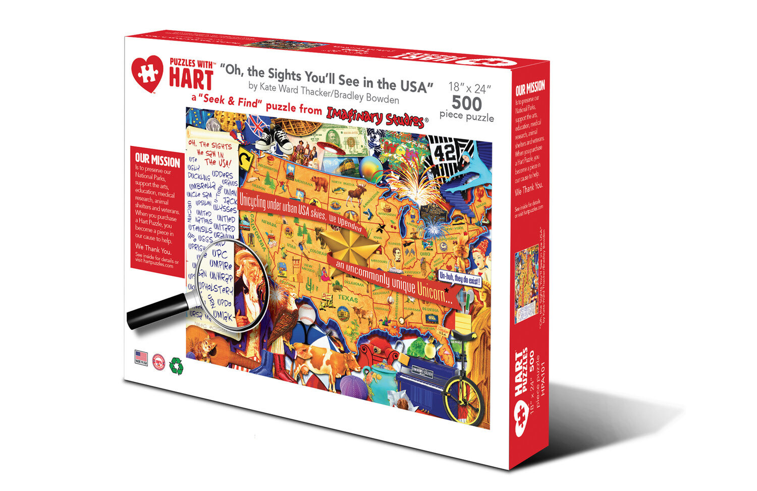 Hart puzzle Hart Puzzle: Oh the Sights You'll See (500pc)