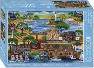 Crown Point Graphics Crown Point Puzzle: July 4th Seaside Celebration (1000pc)