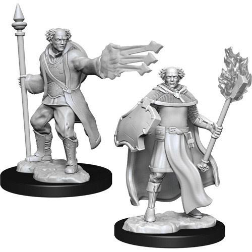 Wizkids D&D Nolzurs Miniature: Male  Cleric & Wizard Multiclass