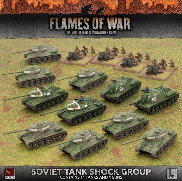 Flames of War Flames of War: Soviet -Tank Shock Group (late)