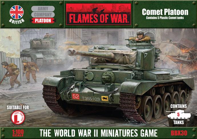 Flames of War Flames of War: British- Comet Platoon (late)
