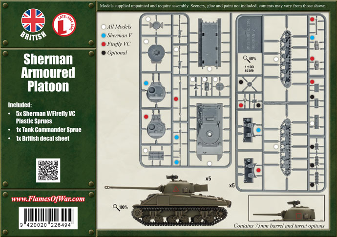 Flames of War Flames of War: British- Sherman Armoured Platoon (late)