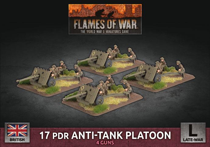 Flames of War Flames of War: British- 17 Pdr Anti-Tank Platoon (late)