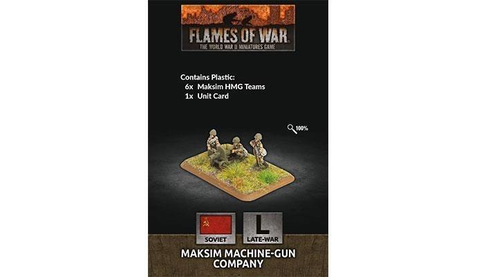 Flames of War Flames of War: Soviet- Maksim Machine-Gun Company (late)