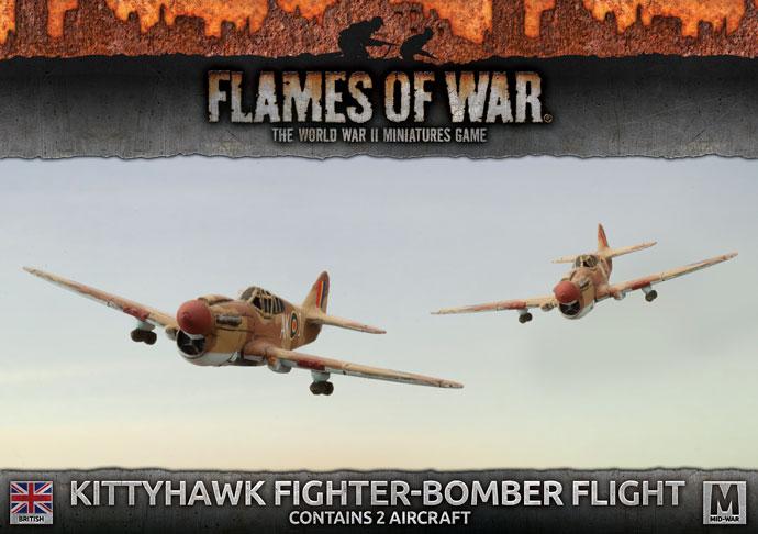 Flames of War Flames of War: British- Kittyhawk Fighter-Bomber Flight (mid)