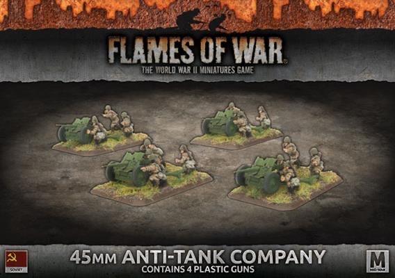 Flames of War Flames of War: Soviet- 45mm Anti-Tank Company (mid)