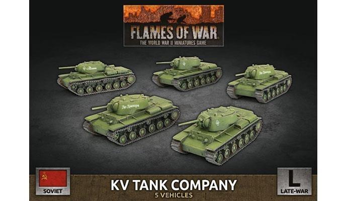 Flames of War Flames of War: Soviet- KV Tank Company (late)