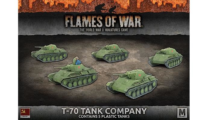 Flames of War Flames of War: Soviet- T-70 Tank Company (mid)