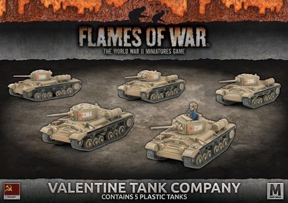 Flames of War Flames of War: Soviet- Valentine Tank Company (mid)