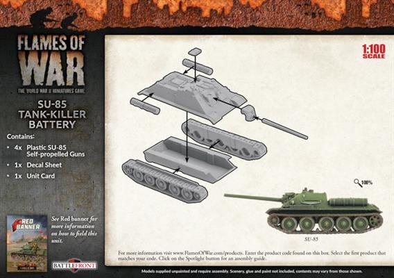 Flames of War Flames of War: Soviet- SU-85 Tank-Killer Battery (mid)