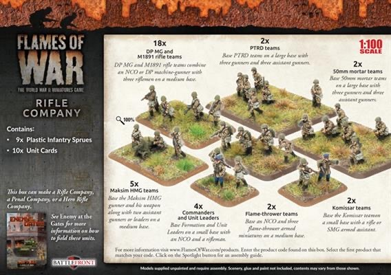 Flames of War Flames of War: Soviet- Rifle Company (mid)