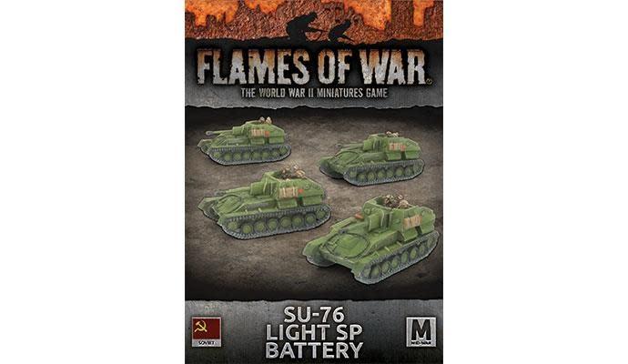 Flames of War Flames of War: Soviet- SU-76 Light SP Battery (mid)