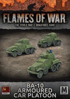 Flames of War Flames of War: Soviet- BA-10 armoured Car Platoon (mid)