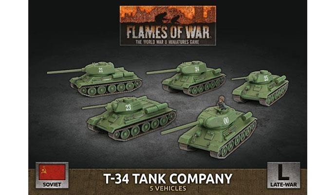 Flames of War Flames of War: Soviet- T-34 Tank Company (late)