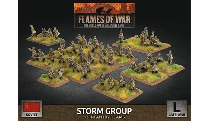 Flames of War Flames of War: Soviet- Storm Group (late)