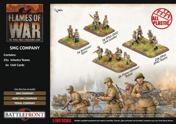Flames of War Flames of War: Soviet- SMG Company (late)