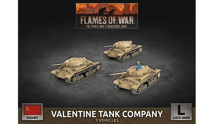 Flames of War Flames of War: Soviet- Valentine Tank Company (late)