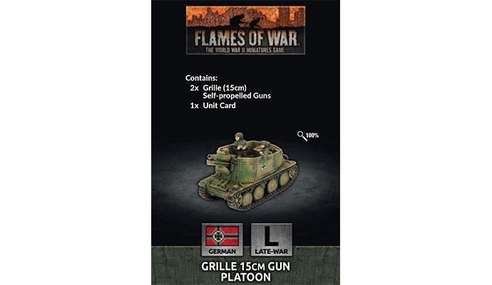 Flames of War Flames of War: German- Grille 15cm Gun Platoon (late)