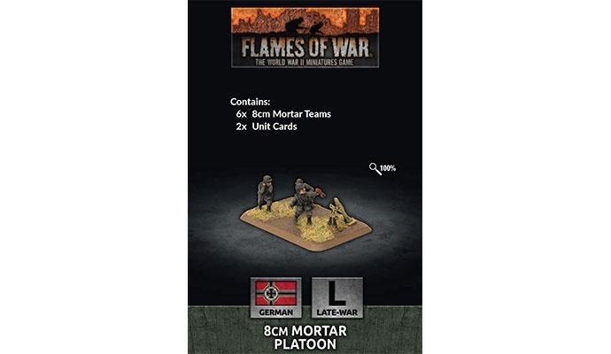 Flames of War Flames of War: German-  8cm Mortar Platoon (late)