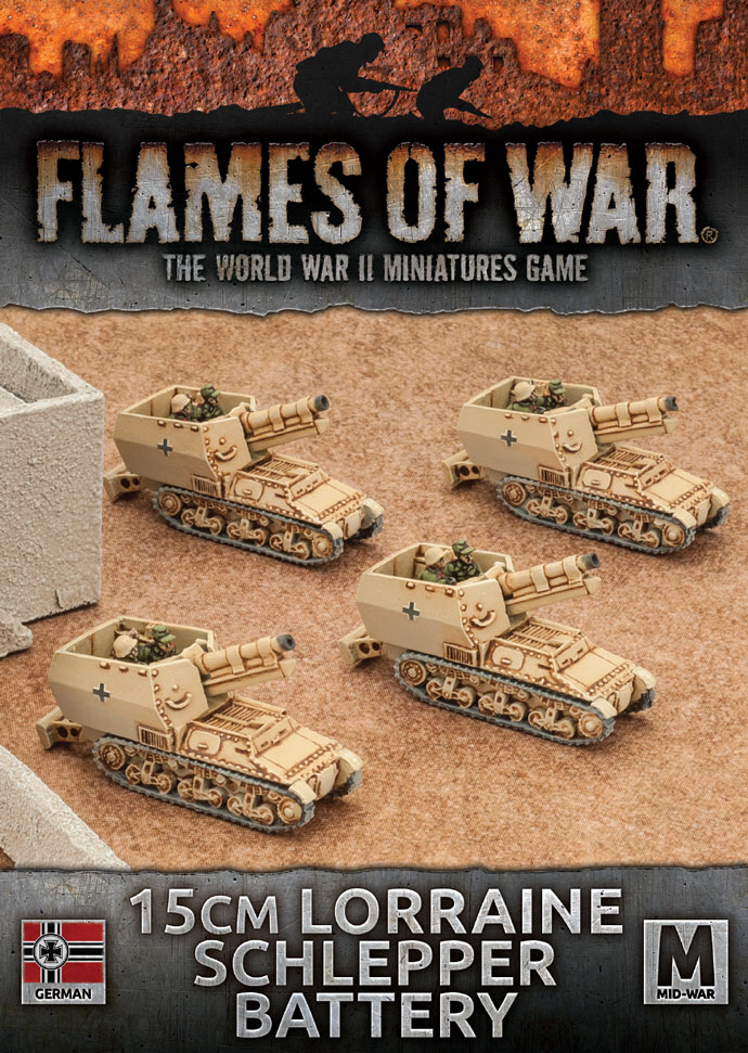 Flames of War Flames of War: German- 15cm Lorraine Schlepper Battery (mid)