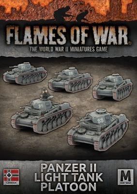 Flames of War Flames of War: German- Panzer II Light Tank Platoon (mid)