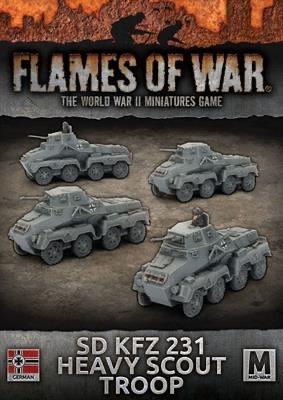 Flames of War Flames of War: German- SD KFZ 231 Heavy Scout Troop (mid)