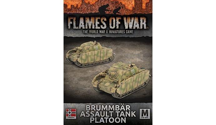 Flames of War Flames of War: German- Brummbar Assault Tank Platoon (mid)