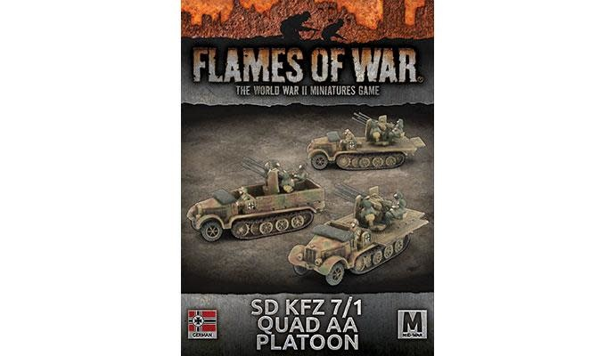 Flames of War Flames of war: German- Sd KFZ7/1 Quad AA Platoon (mid)