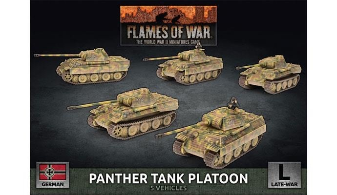 Flames of War Flames of War: German- Panther Tank Platoon (late)