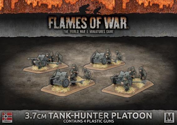 Flames of War Flames of War: German- 3.7 cm Tank-Hunter Platoon (mid)