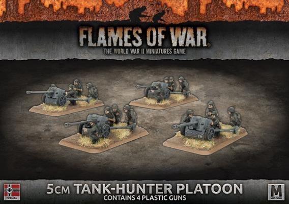 Flames of War Flames of War: German- 5cm Tank-Hunter Platoon (mid)
