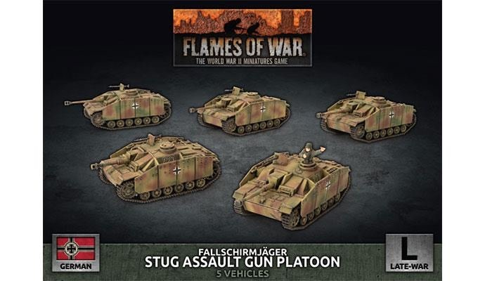 Flames of War Flames of War: German- Fallschirmjager Stug Assault Gun Platoon (Late)