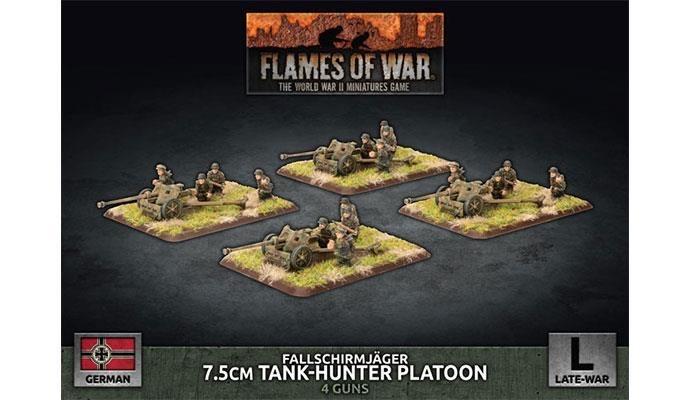 Flames of War Flames of War: German- Fallschirmjager 7.5cm Tank-Hunter Platoon (late)