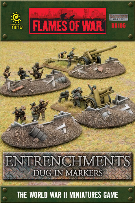 Flames of War Flames of War Terrain: Entrenchments Dug-In Markers