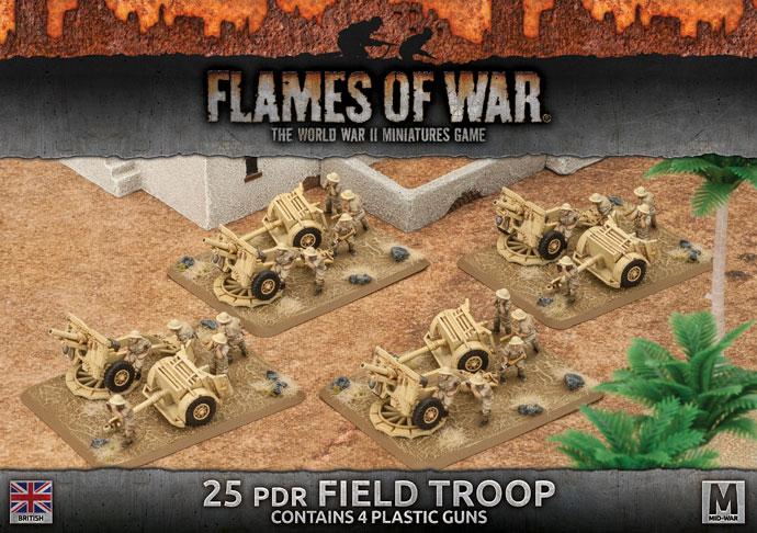 Flames of War Flames of War: British- 25 PDR Field Troop (mid)