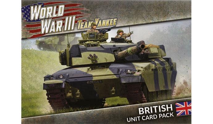 Team yankee Team Yankee Unit Card WWIII: British