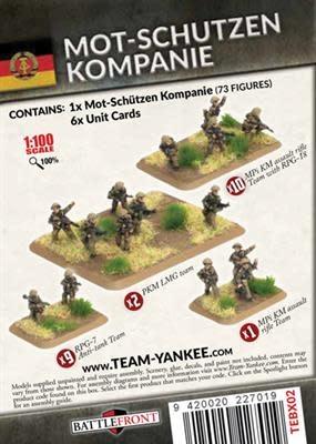 Team yankee Team Yankee: East German- Mot-Schutzen Kompanie