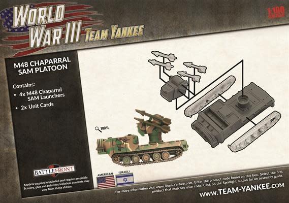 Team yankee Team Yankee: American- M48 Chaparral Sam Platoon