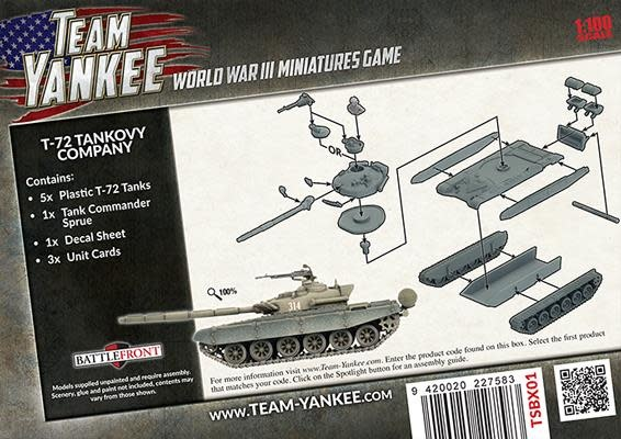 Team yankee Team Yankee: Soviet- T-72 Tankovy Company