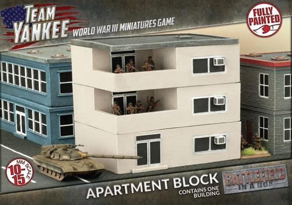Battlefield in a Box Team Yankee Terrain: Apartment Block Painted Building