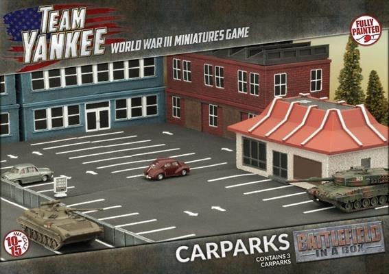 Battlefield in a Box Team Yankee Terrain: Car Parks