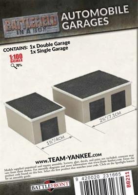 Battlefield in a Box Team Yankee Terrain: Automobile Garages