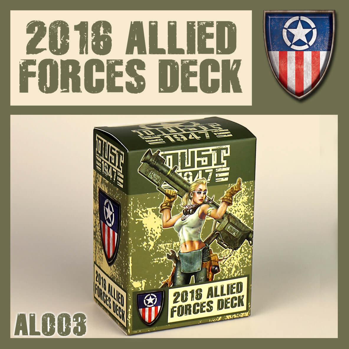 Dust Tactics Dust: 2016 Allied Forces Deck