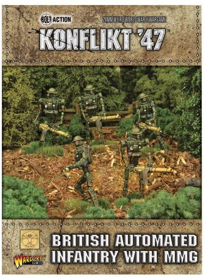 Warlord games Konflikt '47: British- Automated Infantry with MMG