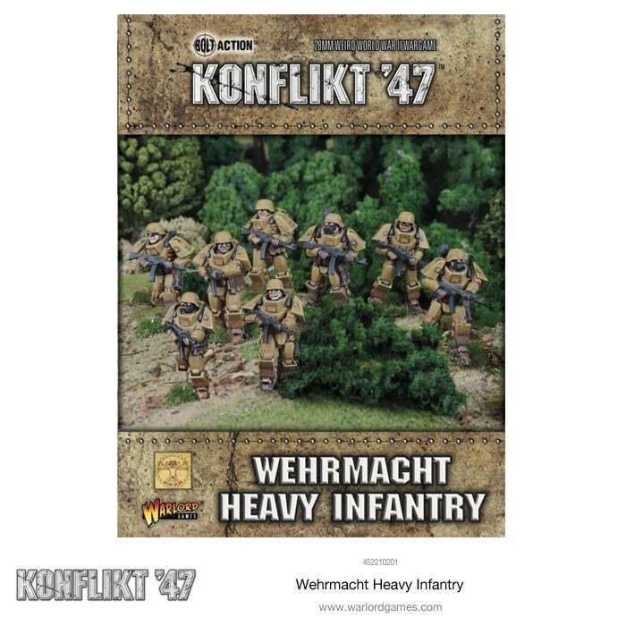 Warlord games Konflikt '47: German- Wehrmacht Heavy Infantry