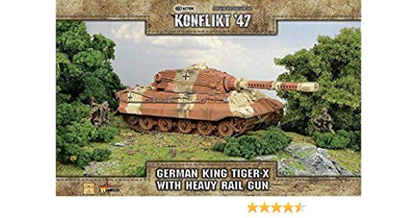 Warlord games Konflikt '47: German- King Tiger X Heavy Rail Gun