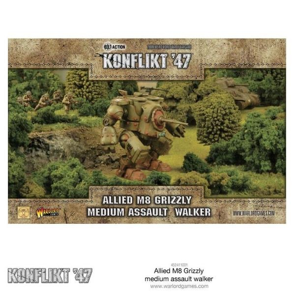 Warlord games Konflikt '47: US/ British- Allied M8 Grizzly Medium Assault Walker